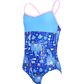 Zoggs Undersea V-back badpak Meisjes, blue/multi